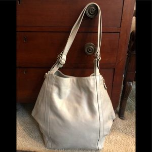 Loeffler Randall Gray Oversized Leather Bag Hobo